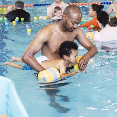 Cayden's First Swim Class