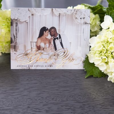 Burks Wedding Thank You Cards