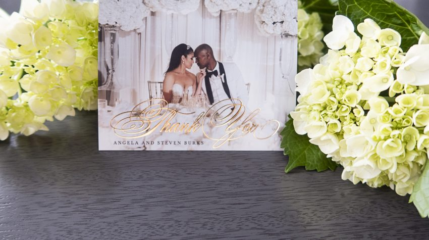 Burks Wedding Thank You Cards